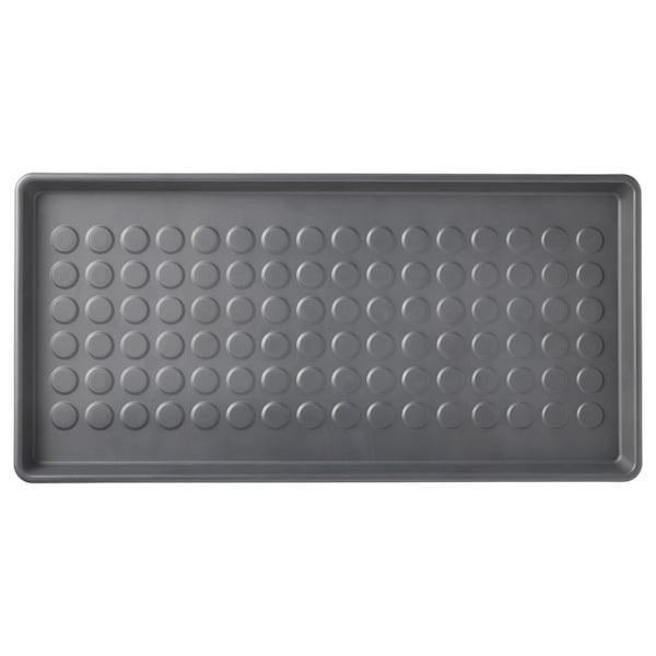BAGGMUCK Schuhmatte, drinnen/draußen/grau, 71x35 cm