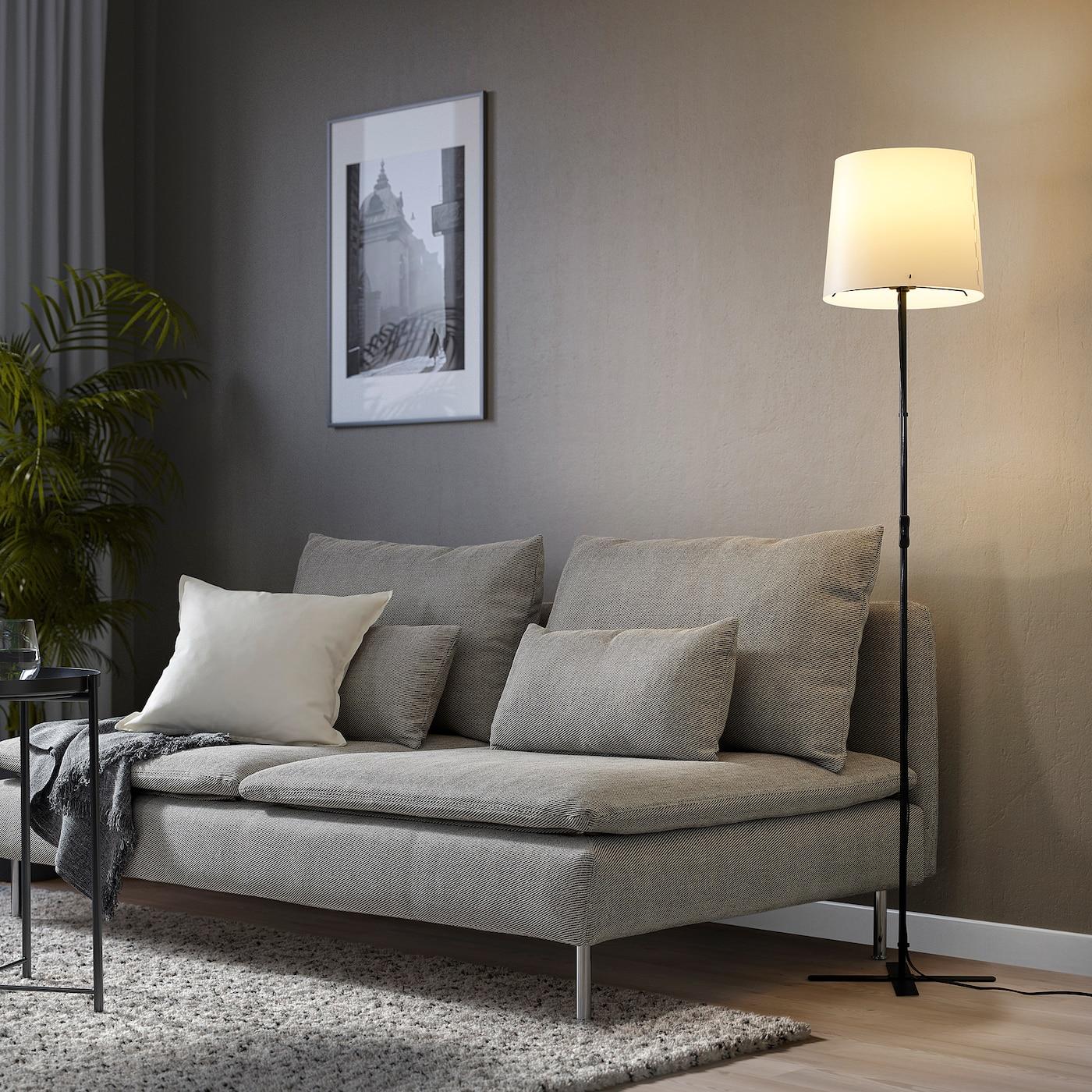 BARLAST Standleuchte, schwarz/weiß, 150 cm