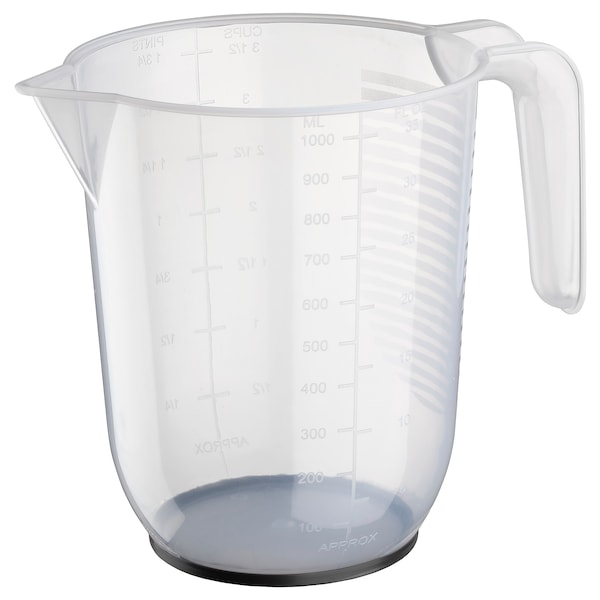 BEHÖVA Messbecher, transparent/grau, 1 l