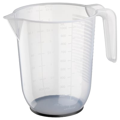 BEHÖVA Messbecher, transparent/grau, 1 l