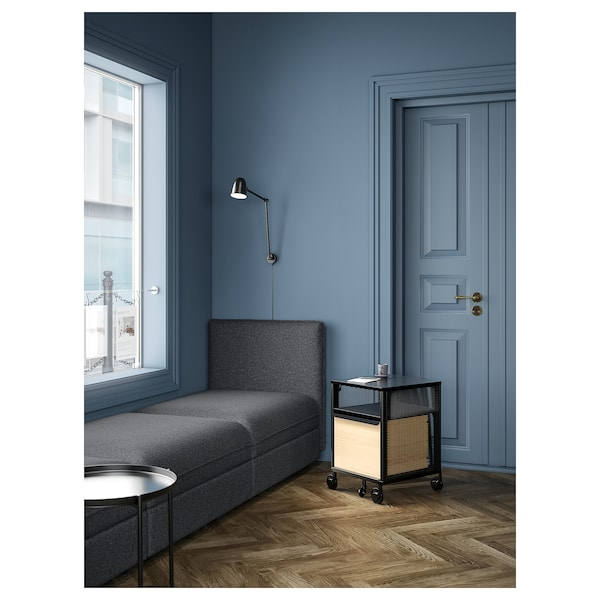 BEKANT Aufbewahrung mit NFC-Schloss, Netz schwarz, 41x61 cm