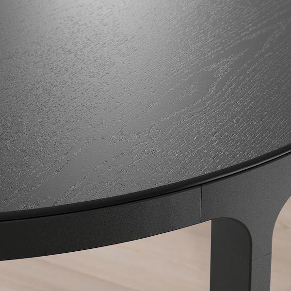 BEKANT Konferenztisch, schwarz gebeiztes Eschenfurnier/schwarz, 140 cm