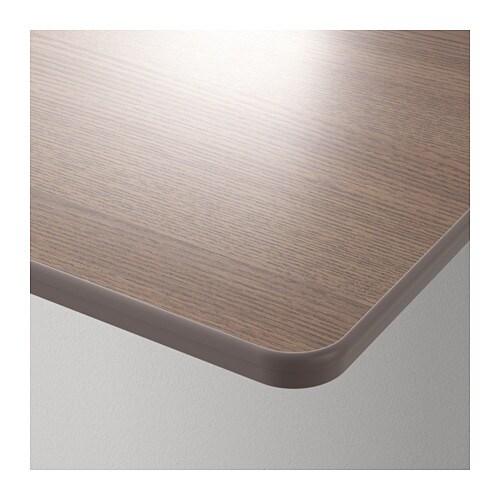 Tischplatte ikea grau  BEKANT Tischplatte - halbrund/grau - IKEA