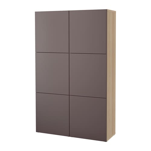 best aufbewahrung mit t ren eicheneffekt wei lasiert valviken dunkelbraun ikea. Black Bedroom Furniture Sets. Home Design Ideas