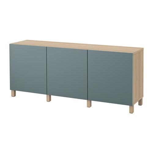 best aufbewahrung mit t ren eicheneffekt wei lasiert valviken graut rkis ikea. Black Bedroom Furniture Sets. Home Design Ideas