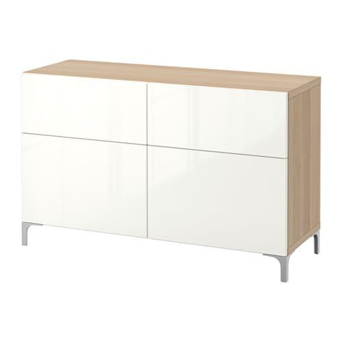 best aufbewkomb t ren schubladen eichenachbildung wei las selsviken hochglanz wei. Black Bedroom Furniture Sets. Home Design Ideas