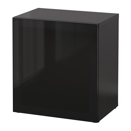 best regal mit glast r schwarzbraun glassvik schwarz rauchglas ikea. Black Bedroom Furniture Sets. Home Design Ideas