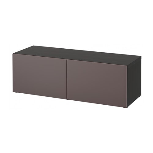 best regal mit t ren schwarzbraun valviken dunkelbraun ikea. Black Bedroom Furniture Sets. Home Design Ideas