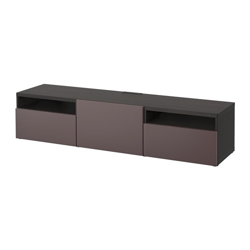 best tv bank schwarzbraun valviken dunkelbraun. Black Bedroom Furniture Sets. Home Design Ideas