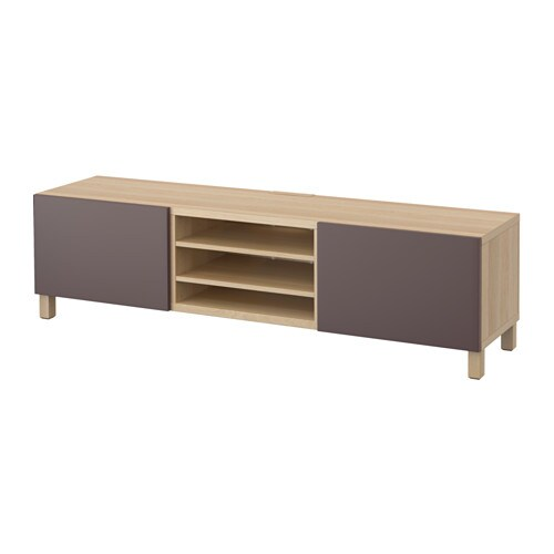 best tv bank mit schubladen eicheneffekt wei lasiert valviken dunkelbraun schubladenschiene. Black Bedroom Furniture Sets. Home Design Ideas
