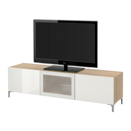 best tv bank mit schubladen und t r eicheneffekt wei. Black Bedroom Furniture Sets. Home Design Ideas