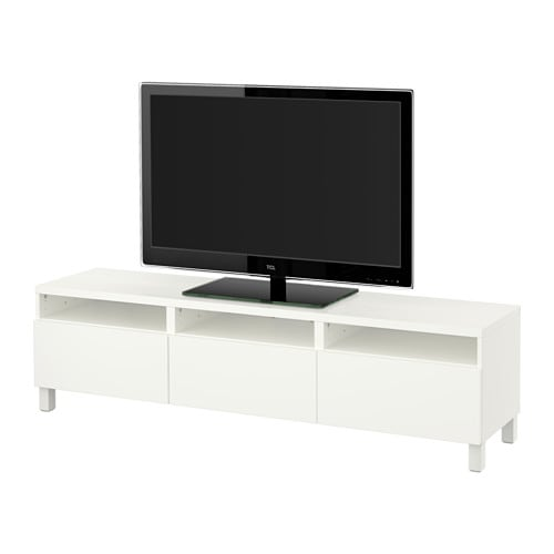 best tv bank mit schubladen lappviken wei schubladenschiene drucksystem ikea. Black Bedroom Furniture Sets. Home Design Ideas