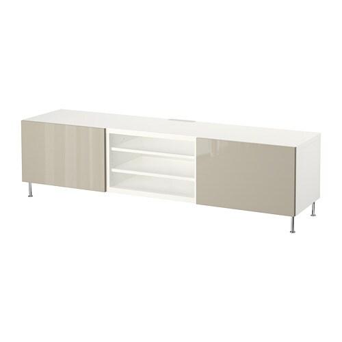 best tv bank mit schubladen wei selsviken stallarp hochglanz beige schubladenschiene. Black Bedroom Furniture Sets. Home Design Ideas