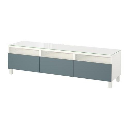 best tv bank mit schubladen wei valviken graut rkis schubladenschiene drucksystem ikea. Black Bedroom Furniture Sets. Home Design Ideas