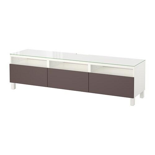best tv bank mit schubladen wei valviken dunkelbraun schubladenschiene drucksystem ikea. Black Bedroom Furniture Sets. Home Design Ideas