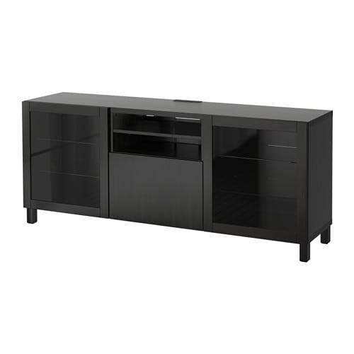 best tv bank mit schubladen lappviken sindvik klarglas sbr schubladenschiene drucksystem ikea. Black Bedroom Furniture Sets. Home Design Ideas