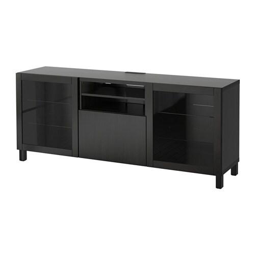 best tv bank mit schubladen lappviken sindvik klarglas. Black Bedroom Furniture Sets. Home Design Ideas