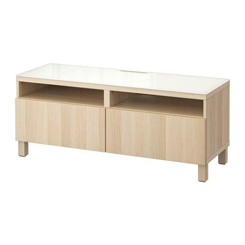 Schlafzimmerschrank Mit Tv Ikea : BESTÅ TVBank mit Schubladen  Lappviken Eichenachbildung weiß las