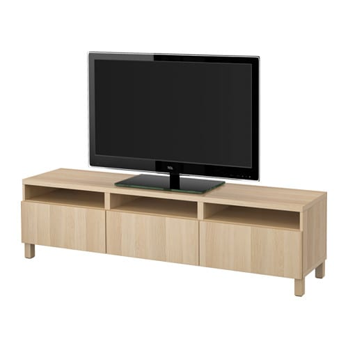best tv bank mit schubladen lappviken eicheneffekt wei. Black Bedroom Furniture Sets. Home Design Ideas