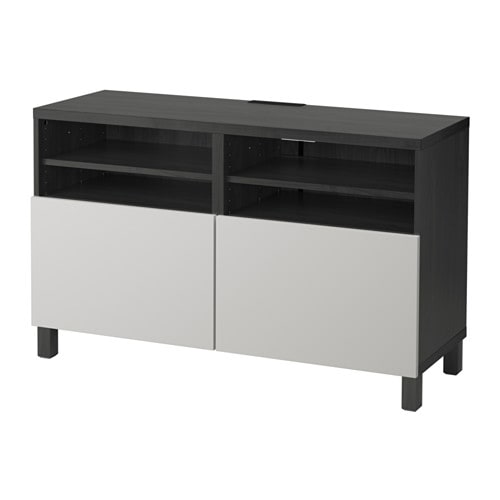 best tv bank mit t ren schwarzbraun lappviken hellgrau ikea. Black Bedroom Furniture Sets. Home Design Ideas