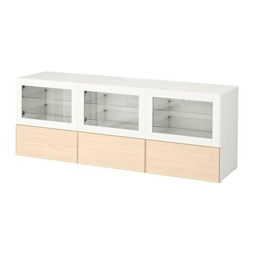 best tv bank mit t ren und schubladen wei sindvik. Black Bedroom Furniture Sets. Home Design Ideas