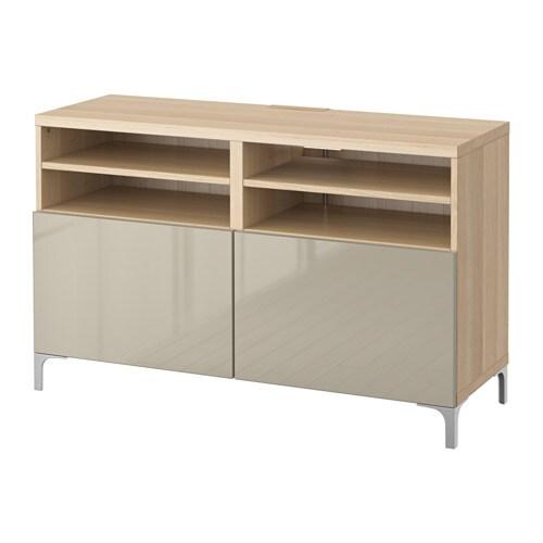 best tv bank mit t ren eichenachbildg wei las selsviken hochglanz beige ikea. Black Bedroom Furniture Sets. Home Design Ideas