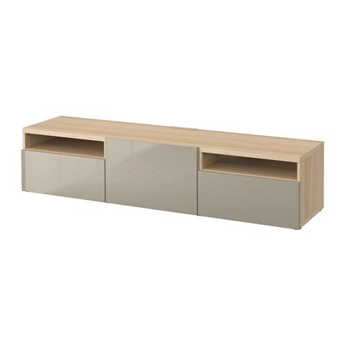 best tv bank eichenachbildg wei las selsviken hochglanz beige schubladenschiene. Black Bedroom Furniture Sets. Home Design Ideas