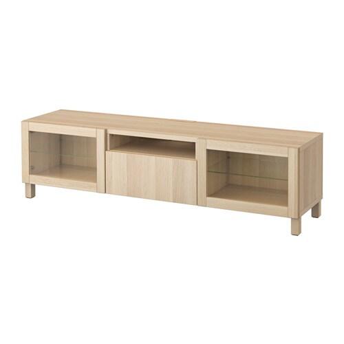 best tv bank lappviken sindvik wei las eichenachb klargl schubladenschiene drucksystem ikea. Black Bedroom Furniture Sets. Home Design Ideas