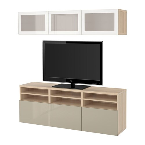 best tv komb mit vitrinent ren ikea. Black Bedroom Furniture Sets. Home Design Ideas