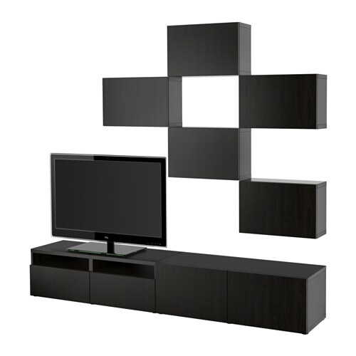 best tv m bel kombination lappviken schwarzbraun. Black Bedroom Furniture Sets. Home Design Ideas