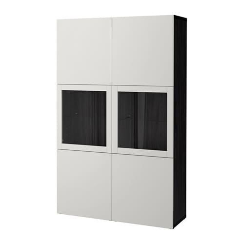 best vitrine schwarzbraun lappviken klarglas h 39 grau ikea. Black Bedroom Furniture Sets. Home Design Ideas