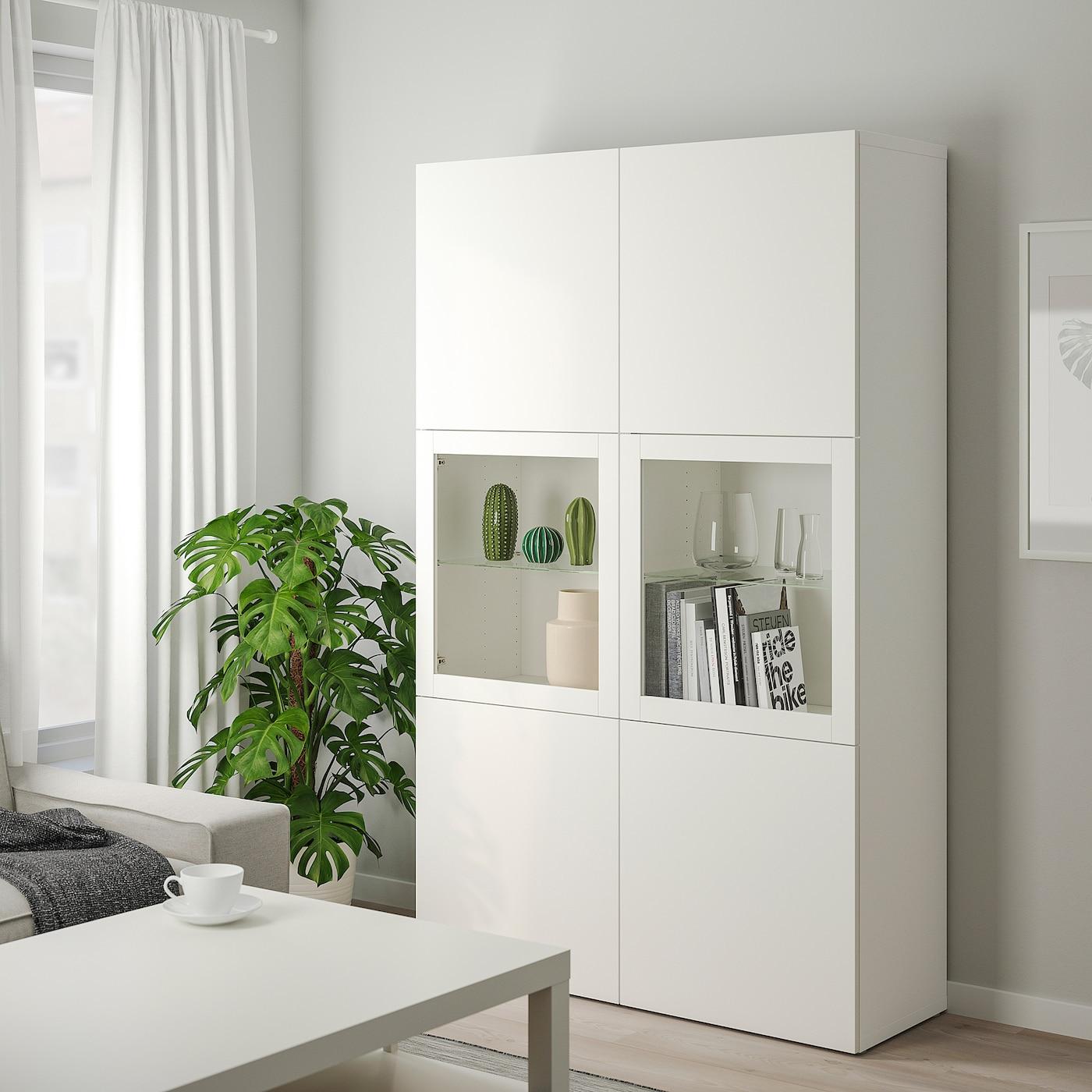 BESTÅ Vitrine - Lappviken/Sindvik Klarglas weiß 9x9x9 cm