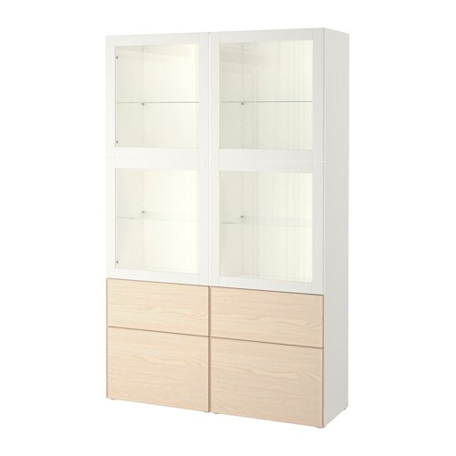 best vitrine wei sindvik inviken eschenfurnier schubladenschiene drucksystem ikea. Black Bedroom Furniture Sets. Home Design Ideas