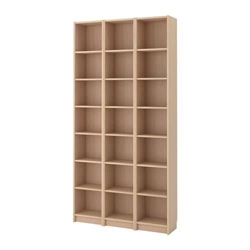BILLY Bücherregal - Eichenfurnier weiß lasiert - IKEA