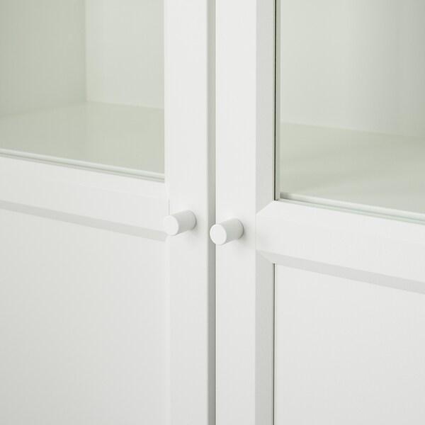 BILLY Bücherregal+Aufs/Paneel-/Vitrtüren, weiß, 80x30x237 cm