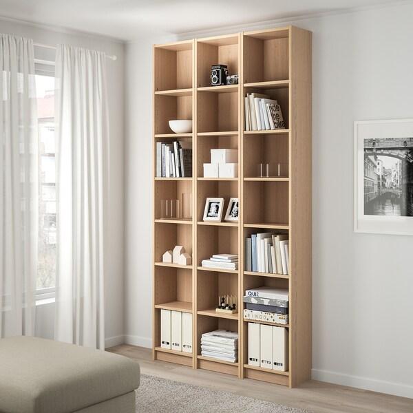 BILLY Bücherregal Eichenfurnier weiß lasiert IKEA Österreich