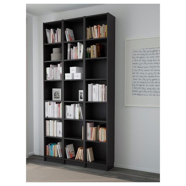 BILLY Bücherregal, schwarzbraun, 120x28x237 cm