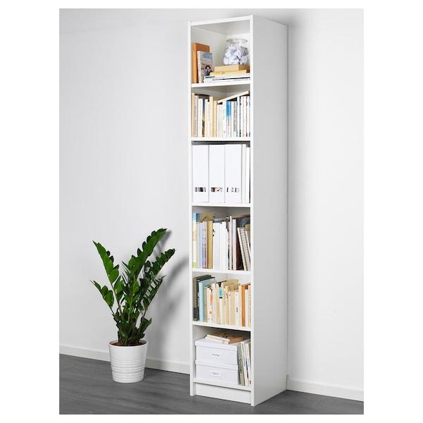 BILLY Bücherregal, weiß, 40x40x202 cm