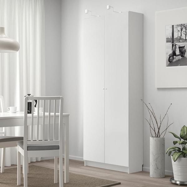 BILLY / OTTEBOL Bücherregal mit Türen, weiß, 80x42x202 cm