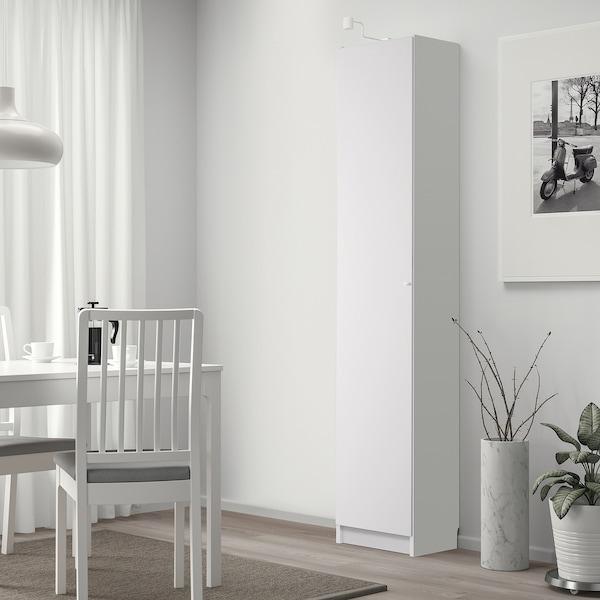 BILLY / OTTEBOL Bücherregal mit Türen, weiß, 40x42x202 cm