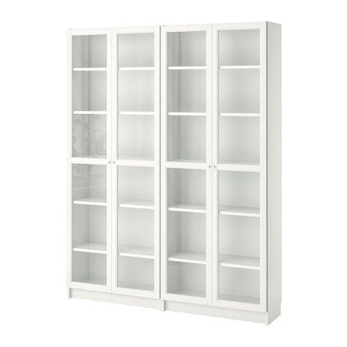 billy oxberg b cherregal wei glas 160x202x28 cm ikea. Black Bedroom Furniture Sets. Home Design Ideas