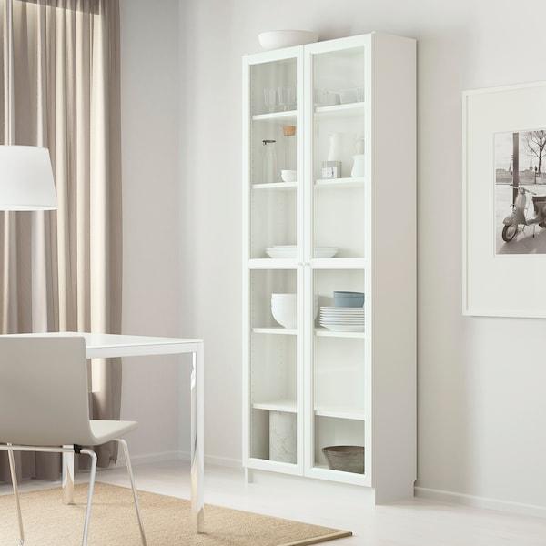 BILLY / OXBERG Bücherregal, weiß, 80x30x202 cm