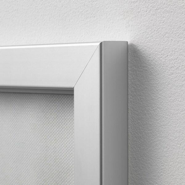 BJÖRKSTA gerahmtes Bild Kiefern/aluminiumfarben 200 cm 140 cm