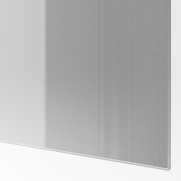 BJÖRNÖYA Schiebetürpaar, grau Tönungseffekt, 200x236 cm