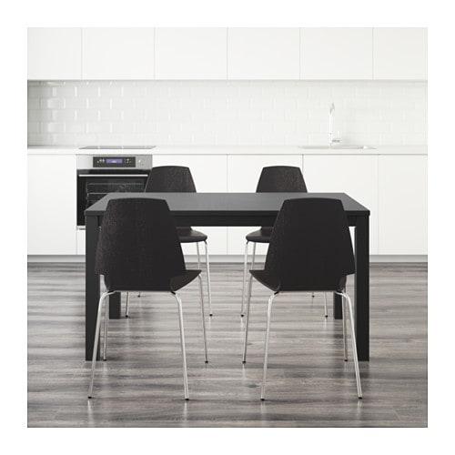 Ikea Fyndig Unterschrank Mit Schubladen ~ BJURSTA  VILMAR Tisch und 4 Stühle > Ausziehbarer Esstisch mit 2