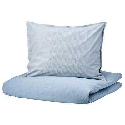 BLÅVINDA Bettwäscheset, 2-teilig hellblau 200 Quadratzoll 1 Stück 200 cm 150 cm 50 cm 60 cm