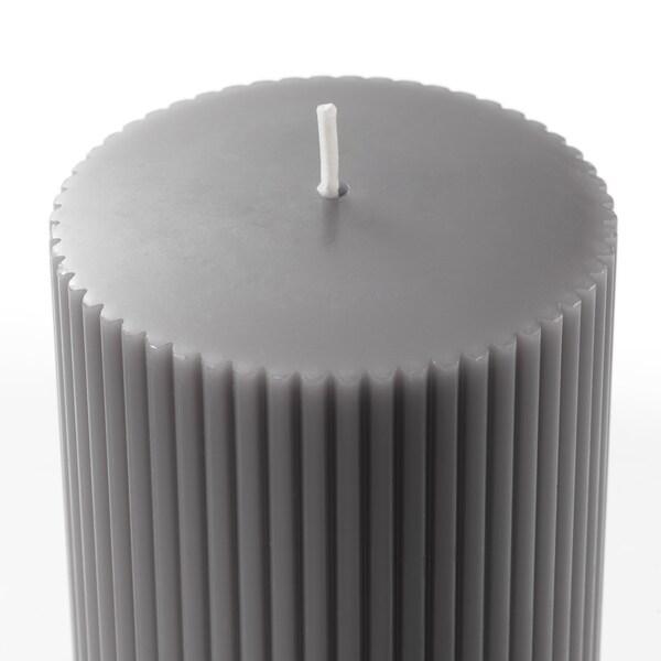 BLOMDOFT Blockkerze, duftend, Gladiole/grau, 10 cm