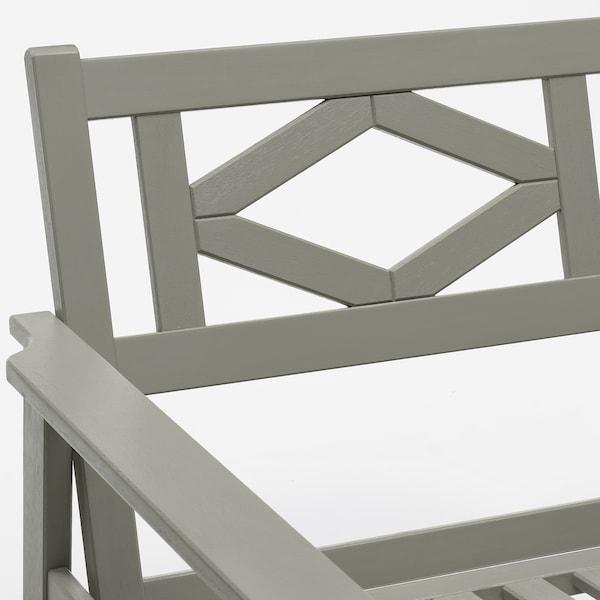 BONDHOLMEN 2er-Sofa/außen, grau las./Järpön/Duvholmen braunrot, 139x81x89 cm