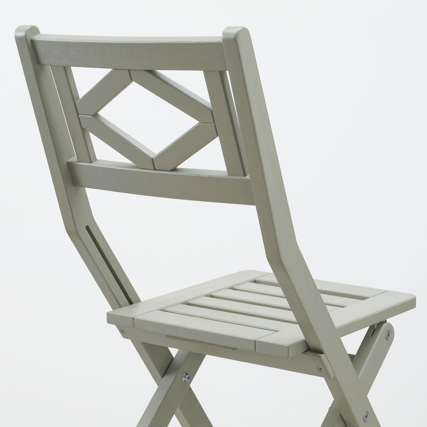 BONDHOLMEN Tisch+2 Klappstühle/außen, grau las./Frösön/Duvholmen dunkles Beigegrün