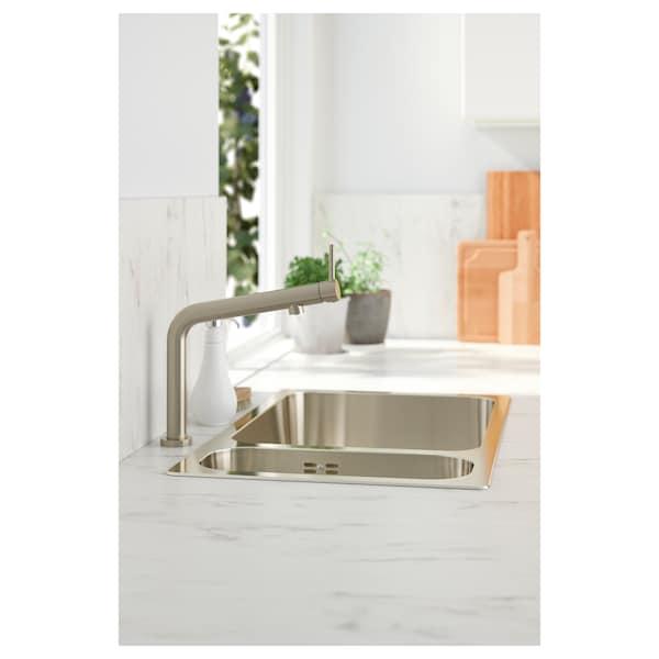 BOSJÖN Mischbatterie/Küche, stahlfarben